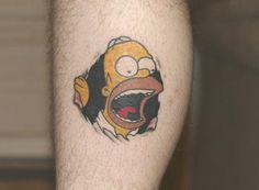 Simpsons Cartoon Tattoos
