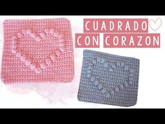 CUADRADO DE CROCHET CON CORAZON - TUTORIAL | Danii's Ways ♡ - YouTube