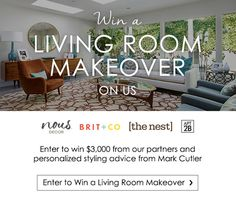 Enter to win a living room makeover!