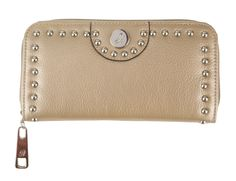 The #GraceAdele leather stud wallet in metallic. Megansmith717.graceadele.us