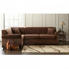 39 Corey 39 Collection 2 Piece Sectional Sofa With Chaise Sears Canada Downstairs Living Room