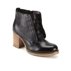 Ravel Women's Toronto Leather Lace Up Heeled Ankle Boots - Black: Image 41