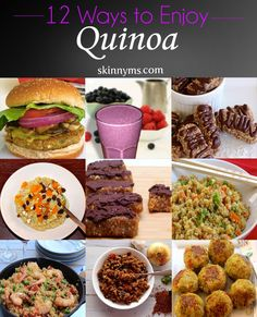 12 Quinoa Recipes for Weight-Loss. Quinoa is naturally low in fat and calories and high in protein, making it ideal for weight-loss. #quinoa #superfood #recipes #dinner #lunch #meals