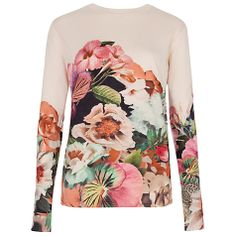 Floral Print Jumper by Ted Baker, from John Lewis, see site for pricing