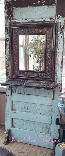 old door turned hall tree, doors, painted furniture, repurposing upcycling Old Door Projects, Furniture Projects, Diy Furniture, Diy Projects, Upcycling Projects, Pallet Projects, Furniture Plans, Vintage Furniture, Project Ideas
