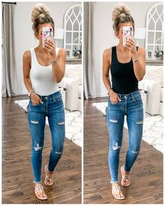 You are in the right place about Body Suit con pantalon Here we offer you the most beautiful picture Sandals Outfit Summer, Jeans Outfit Summer, Cute Summer Outfits, Spring Outfits, Casual Outfits, Cute Outfits, Fashion Outfits, Fashion Trends, Jean Outfits