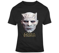 Night King White Walker Game Of Thrones  T Shirt Night King, Gifts For Friends, Shirt Style, Tv Series, Game Of Thrones, Prints, Mens Tops, How To Make, T Shirt