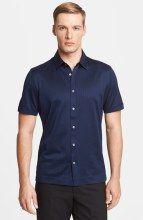 Brioni Shadow-Check Long-Sleeve Sport Shirt, Burgundy/Navy/Gray ...