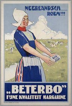 BeterBo 'Fijne kwaliteit margarine' Meer over boter? Ga naar http://www.milkstory.nl/artikel/boter-bij-de-vis  #reclame #affiche#koe #Cow #dutch #holland #Nederland #zuivel #advertentie #butter #boter #food