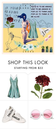 """""""too late"""" by skybluepink173 ❤ liked on Polyvore featuring Topshop, OKA, Alexander McQueen and ZeroUV"""