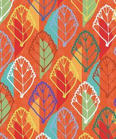 Colorful leaf pattern / print ~ Jacqueline Van Roosmalen Blog