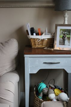 How to get free furniture and flipping ideas! Annie sloan chalk painted end table. HumbleDuck.blog