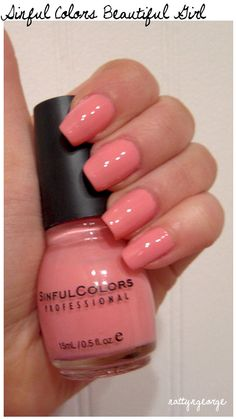 beautiful pink colors | ... is two (2) coats of Sinful Colors Beautiful Girl with no top coat