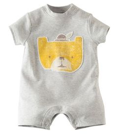 Available exclusively online from Hallmark Baby, beautiful Baby clothes including these Baby Boy Summer Romper   Happy Cat made of 100% cotton