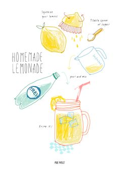 homemade lemonade cooking recipe instagram @moreparsley_