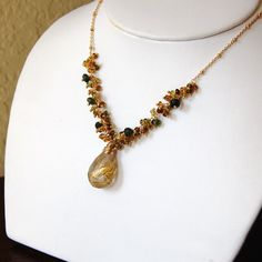 Free Shipping  Golden Rutilated Quartz and by EmmaAlisonDesigns, $128.00