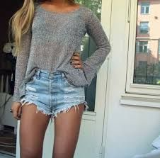 denim shorts outfit - Google Search