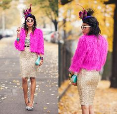 Get this look: http://lb.nu/look/4212697  More looks by Tamara Gonzalez Perea: http://lb.nu/macademiangirl  Items in this look:  Pink Fur, Sequin Skirt