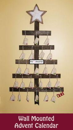 TheDIYDreamer.com Wall Mounted Advent Calendar