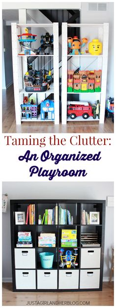 Yes! The toy clutter can be tamed! We need to do this!   Just a Girl and Her Blog