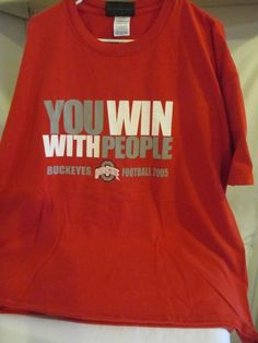 "Ohio State T Shirt - 2005 Football Season - Size: 2XL - Red - ""You Win With...""…"