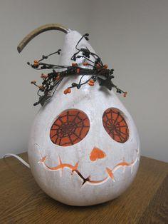 Lighted Skeleton Gourd by lindajdesigns on Etsy, $40.00