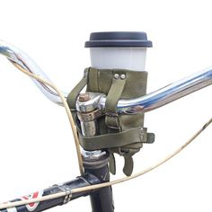 Cruzy Leather Bike Cup Holder Handmade by Hide & Drink — The Stockyard Exchange Bike Cup Holder, Drink Holder, Canvas Leather, Bonded Leather, Soft Leather, Large Containers, Natural Preservatives, Leather Conditioner