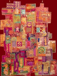 Jill Smith, UK  Dreams of India, Textile Wall Hanging--scan sent in