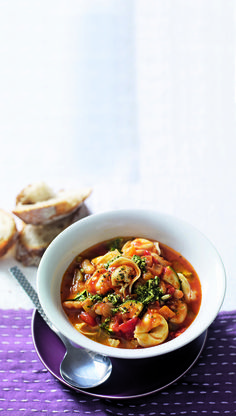 A more filling version of a classic minestrone soup.