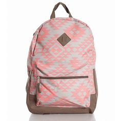 Pink Printed Backpack ($7.99) ❤ liked on Polyvore featuring bags, backpacks, accessories, sacs, pink backpack, pattern bag, pattern backpack, print bags and rucksack bag