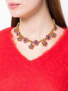 Kenzo Vintage floral chocker necklace