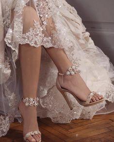 Bridal Heels, Wedding Heels, Pretty Dresses, Beautiful Dresses, Dr Shoes, Fairytale Dress, Princess Aesthetic, Fancy Shoes, Crazy Shoes