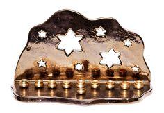 Handmade Ceramic Menorah Stars Star Of David Gold Glaze by idale Hanukkah Lights, Diy Hanukkah, Hanukkah Decorations, Hanukkah Menorah, Hannukah, Beginner Pottery, Bar Mitzvah Invitations, Party Invitations, Star Of David