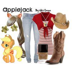 """Applejack"" by nikiigsings on Polyvore"