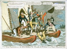 The Castle - in Danger, or the Heads of the Nation in a Queer Situation (caricature) - National Maritime Museum