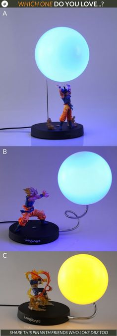 Hey DBZ Lovers, which one do you love the most for your own room? A, B or C.  See them all here: https://lamplanet.com/collections/dragon-ball  Join over 6000+ happy customers and counting more every day, that love our creative lamps.   #lamplanet Lamps Redefined - Embrace The Extraordinary!