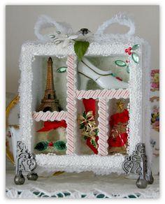 Christmas Shadow Box Display