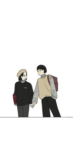 Aesthetic Art, Aesthetic Anime, Manga Art, Anime Art, Minimalist Wallpaper, Anime Love, Anime Couples, Cute Wallpapers, Webtoon