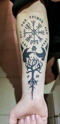 Viking runes and symbols by buttaz at royal ink Melton AUS. Viking runes and symbols by buttaz at royal ink Melton AUS. Viking runes and symbols by buttaz at royal ink Melton AUS. Viking Rune Tattoo, Viking Tattoo Sleeve, Norse Tattoo, Viking Tattoo Design, Viking Runes, Viking Tribal Tattoos, Viking Tattoos For Men, Yggdrasil Tattoo, Armor Tattoo