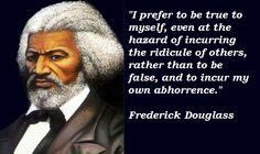 I read the Biography of Frederick Douglass last year and it is a MUST read.