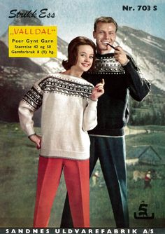 Valldal Embroidery Patterns, Knitting Patterns, Norwegian Knitting, Vintage Knitting, Sweater Jacket, Sweater Weather, Color Combinations, Vintage Christmas, Graphic Sweatshirt