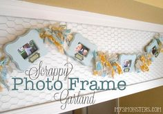 For me it's not about the photo frames.. it's about the chickenwired frame behind the photo's.. love this!