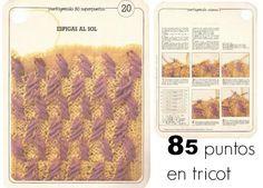 Patrones Crochet: Graficos con 85 Puntos Tricot.-