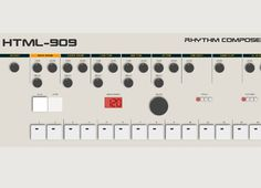 Roland TR-909 drum machine made with HTML5 and <3