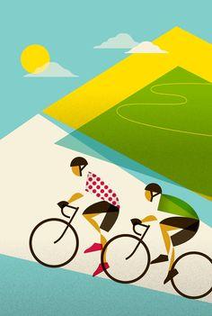 Tour de France 100th anniversary poster (Alpe d huez) - Eleanor Grosch