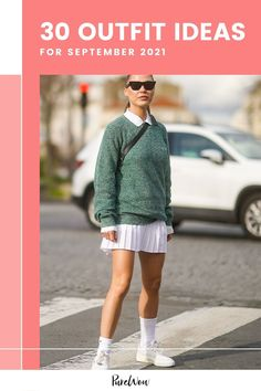 Let these fabulous women show you exactly what to wear as summer turns into fall. Here, September outfit ideas! #September #outfit #ideas 30 Outfits, Night Outfits, Giovanna Battaglia, Sophia Webster, Lacoste, September Outfits, Street Style Looks, City Chic, Dress To Impress
