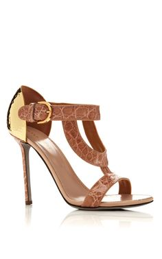 Shop Beverly Sandal in Crocodile by Sergio Rossi Now Available on Moda Operandi