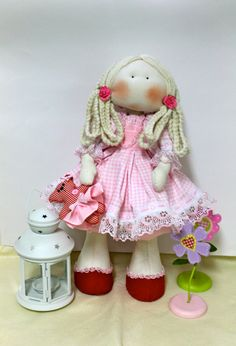 cloth doll  fabric Doll  Handmade doll Decorative by MaminasDolls