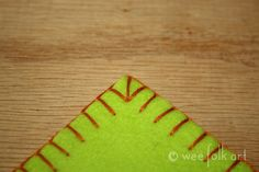 Blanket Stitching - Part 3 - Corners and Sewing 2 Pieces Together | Wee Folk Art