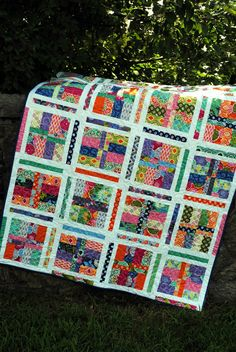Under the Boardwalk quilt PATTERN five sizes from baby to king.... Layer Cake or Fat Quarters PDF Version via Etsy